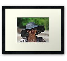 Lady in a Hat Framed Print