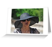 Lady in a Hat Greeting Card