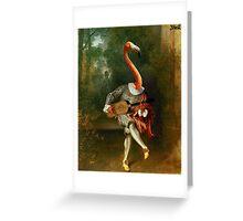 pink flamenco  Greeting Card