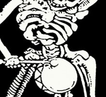 Zombie Undead Skeleton Marching and Beating A Drum Sticker