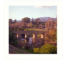 Winter, Richmond Bridge, Tasmania Art Print