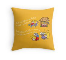Jack and Jill went up the hill Throw Pillow
