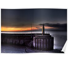 Watchet harbour lighthouse 2 Poster