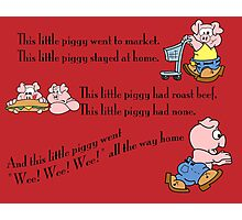 Three Little Piggies Photographic Print