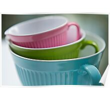 Pastel cups Poster