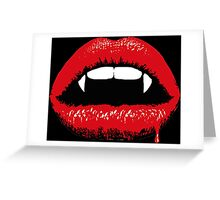 Vampire Teeth Greeting Card