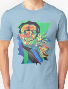 Salvador Dali with Ocelot and Cane Unisex T-Shirt