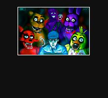 Five Nights at Freddy's with Security Guard, Purple Guy&Marionette Unisex T-Shirt