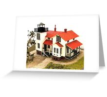 """""""Old Point San Luis Lighthouse - Scale Model"""" Greeting Card"""