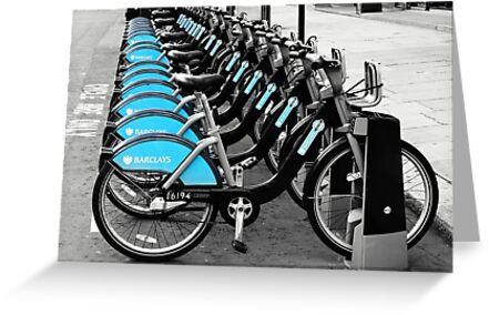 Boris Bikes, London, UK by Astrid Ewing Photography