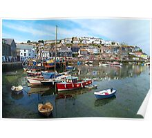 Mevagissey Harbour, Cornwall Poster