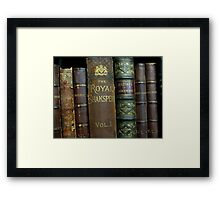 OLD BOOKS OF SHAKESPEARE Framed Print