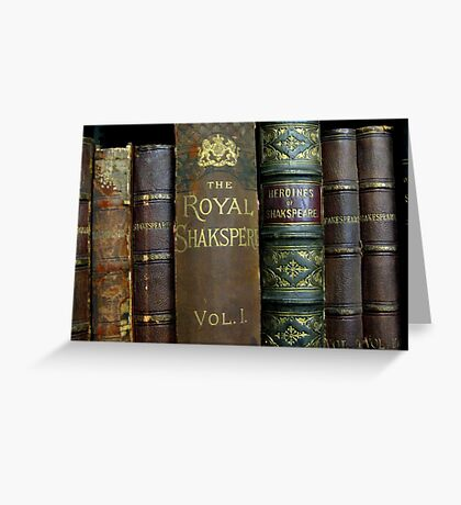 OLD BOOKS OF SHAKESPEARE Greeting Card