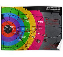 killjoy map with markings Poster