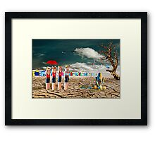 Cracked IV - To the Rescue Framed Print