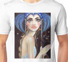 Lenore & the Three Eyed Raven, Original art, PopSurrealism Unisex T-Shirt