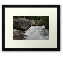 Boulder Breaking Framed Print