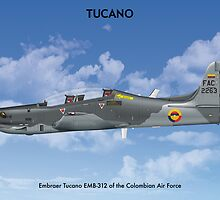 Embraer Tucano Colombia 1 by Claveworks
