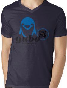 yubo - penguin QRcode Mens V-Neck T-Shirt