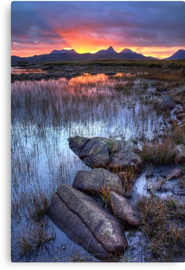 Coigach Sunrise. Far North West Highlands of Scotland. by photosecosse /barbara jones