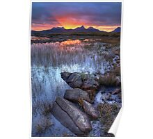 Coigach Sunrise. Far North West Highlands of Scotland. Poster