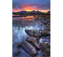 Coigach Sunrise. Far North West Highlands of Scotland. Photographic Print