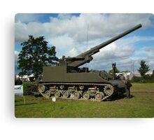 M40 155mm Gun Motor Carriage Canvas Print