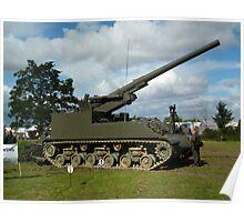 M40 155mm Gun Motor Carriage Poster