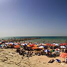 Beaches of Tel Aviv Panorama by Zohar Lindenbaum