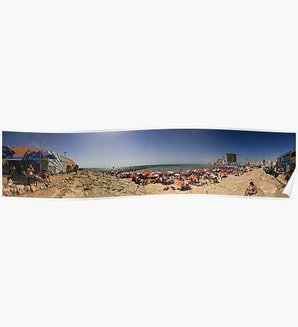 Beaches of Tel Aviv Panorama Poster