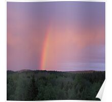 Rainbow on a summer evening 2 Poster
