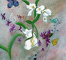 Ochids and Lilies by Newhouser