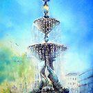 Steine gardens Fountain by LorusMaver