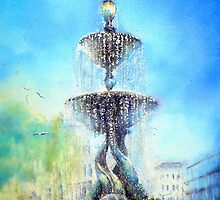 Steine gardens Fountain by LorusMaver