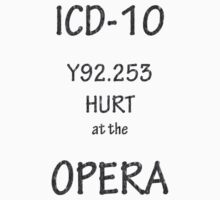 ICD-10: Y92.253  Hurt at the Opera by Corri Gryting Gutzman