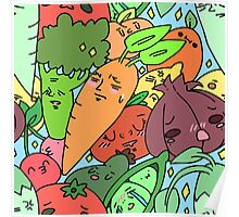 Fruits and veggies! Poster