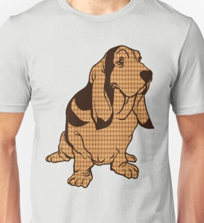 Henry the Houndstooth Hound Unisex T-Shirt