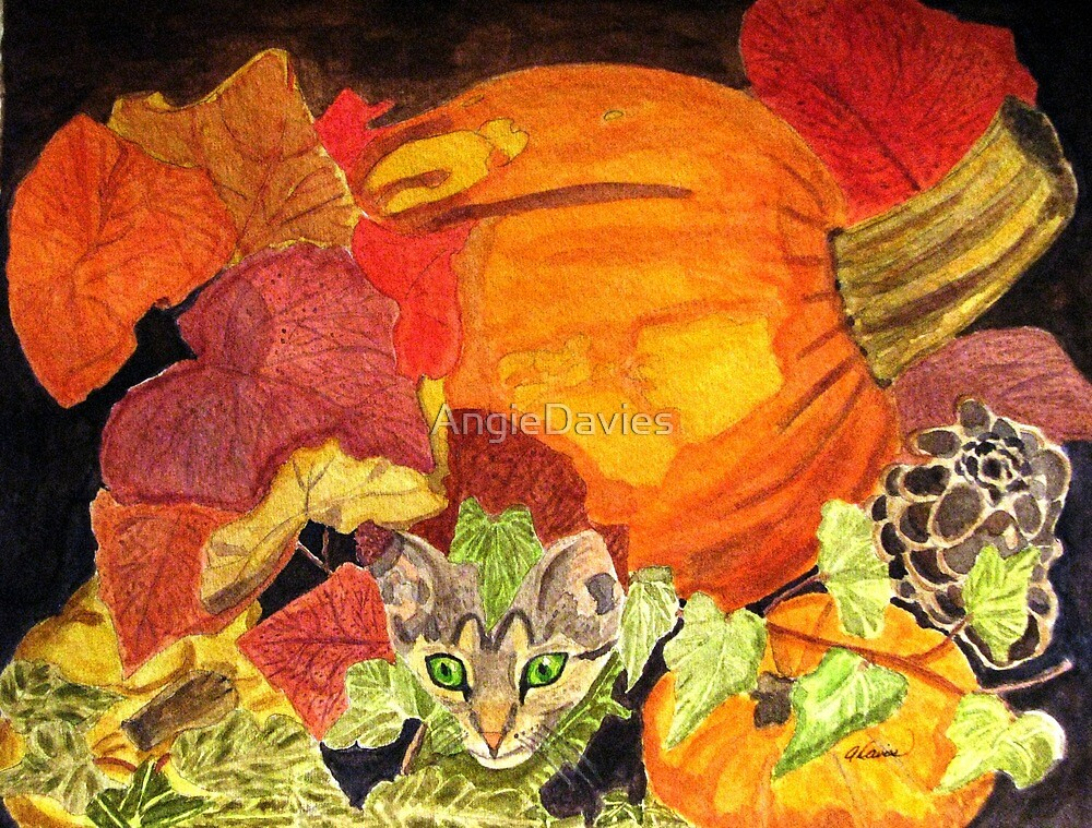 I'm Hiding in the Pumpkin Patch by AngieDavies