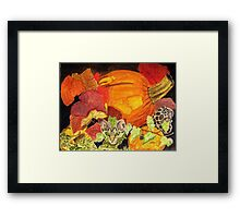 I'm Hiding in the Pumpkin Patch Framed Print