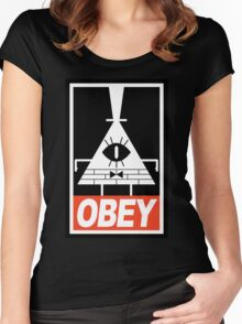 OBEY Bill Cipher Women's Fitted Scoop T-Shirt