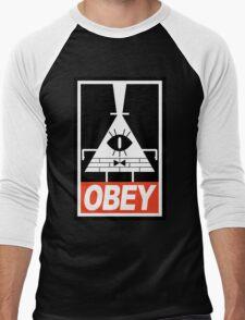 OBEY Bill Cipher Men's Baseball ¾ T-Shirt