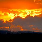 Industrial Sunset by David Bradbury