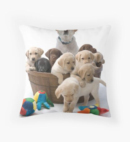 Holly's Pups Throw Pillow