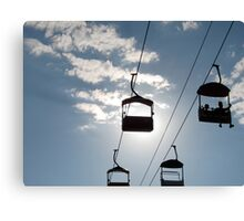 Chairlift Silhouette Canvas Print