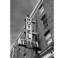 Hotel, Yorba Photographic Print