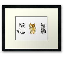 cat tumblr drawings  Framed Print