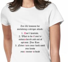 Vampire Academy lessons Womens Fitted T-Shirt