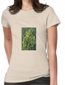 A Skeleton Embracing A Zombie Halloween Horror Womens Fitted T-Shirt