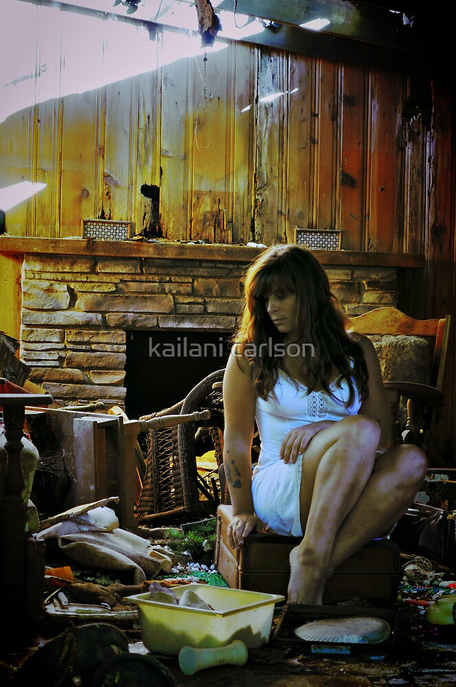 Tricked into Catastrophe, Self Portrait by kailani carlson