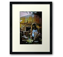Tricked into Catastrophe, Self Portrait Framed Print